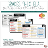 Grade 9-10 ELA Portfolio Checklists ~ CCSS Overview & Checklists