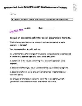 Grade 9 Alberta Social Studies Chapter 8 Project