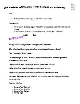 Grade 9 Alberta Social Studies Chapter 8 booklet