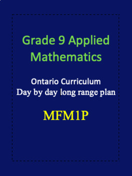 Grade 9 Applied Math Long Range Plan MFM1P