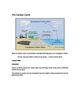 Grade 9 - Biology Lesson 05 - Matter Cycles