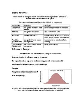 Grade 9 - Biology Lesson 07 - Biotic and Abiotic Influences