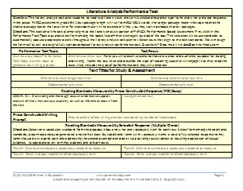 Grade 9: Common Core/PARCC Paired Text Performance Task Template