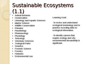 Grade 9 Ecology lesson 1