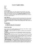 Grade 9 English Syllabus ELA English Language Arts Basic Syllabus Plan Syllabi