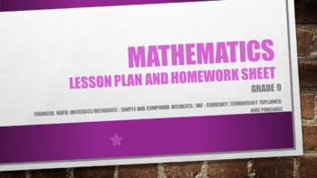 Grade 9 Financial math