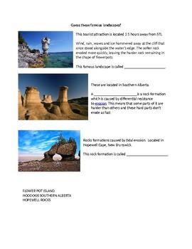 Grade 9 Geography Unit 2 Landforms Trivia