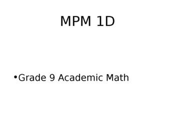 Grade 9 Math Power Point