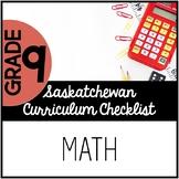 Grade 9 Mathematics - Saskatchewan Curriculum Checklist