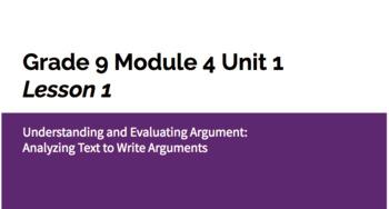 Grade 9 Module 4 Unit 1 Lesson 1 Slides