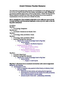 Grade 9 Science Teacher Resource