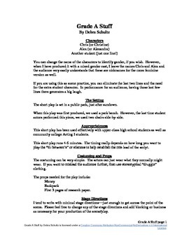 Grade A Stuff--A Short Play or Scene with a Twist!