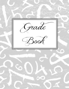Grade Book Binder Cover and Template EDITABLE