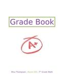 Grade Book Cover - EDITABLE!