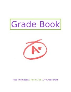 Grade Book Cover - EDITABLE!