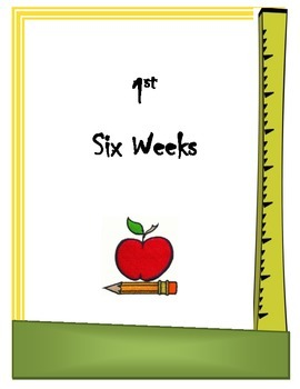 Grade Book Cover sheets (1st -6th six weeks)