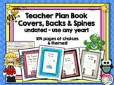 Teacher Plan Book Covers, Backs & Spines
