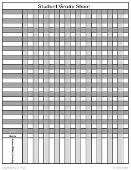 Grade Book Form editable)(
