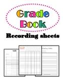 Grade Book Recording Sheet