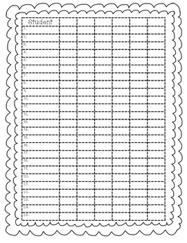 Grade Book Template-Black and White