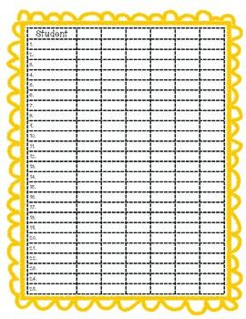 Grade Book Template-Color