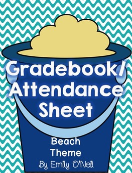 Grade Book and Attendance (Beach Theme)