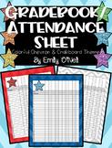 Grade Book and Attendance Sheets (Colorful Chevron & Chalkboard Theme)