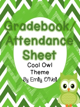Grade Book and Attendance Sheets (Owl Theme)