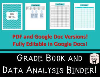 Grade Book and Data Analysis Bundle - Editable in Google Docs