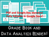 Grade Book and Data Analysis Bundle - Editable in Google Docs