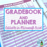 Editable Gradebook and Teacher Planner