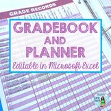 Editable Gradebook and Teacher Planner