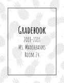 Grade Book cover Pineapple