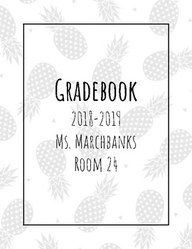 Grade Book cover Pineapple