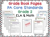 Grade Book for Pennsylvania Core, ELA & Math, Grade 2