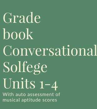 Grade Book for Use with Conversational Solfege Units 1-4