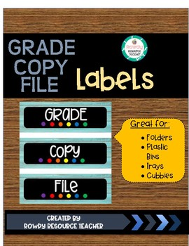 Grade, Copy, File - LABELS