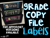 Grade Copy File Labels