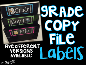Grade Copy File Labels