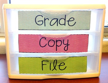 Grade, Copy & File Labels {Freebie}