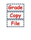 Grade Copy File Classroom Organization Labels