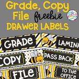 Grade Copy File  Sterlite Drawer Labels BumbleBee BeeTheme FREEBIE
