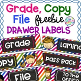 Grade Copy File  Sterlite Drawer Labels Colorful Kids Theme