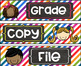 Grade Copy File  Sterlite Drawer Labels Colorful Kids Theme