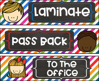 FREEBIE Grade Copy File Sterlite Drawer Labels Colorful Kids Theme
