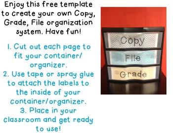 Grade, Copy, File Template Freebie