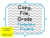 Grade, Copy, File Template Freebie