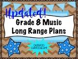 Grade EIGHT Music Long Range Plans (Ontario Curriculum Based) Intermediate