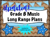 Grade EIGHT Music Long Range Plans (Ontario Curriculum Bas