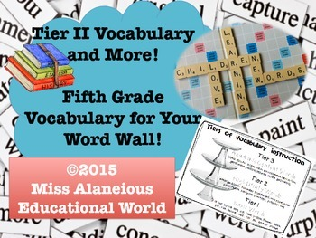 Grade Five Academic Vocabulary for Word Walls!